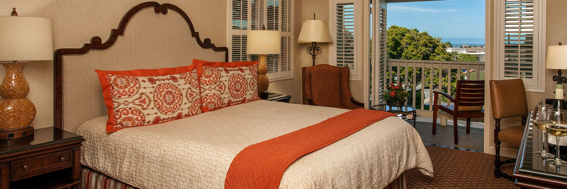 Rooms and suites at Casa Munras Garden Hotel & Spa, Monterey